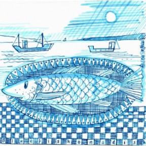 Blue fish on a dish