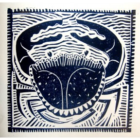 Big Crab lino cut
